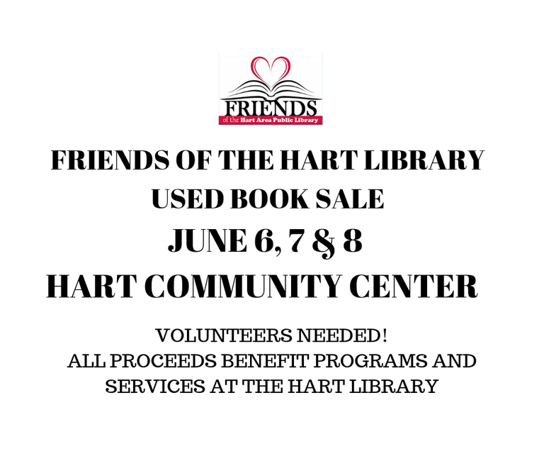 FRIENDS OF THE HART LIBRARY USED BOOK SALE.png