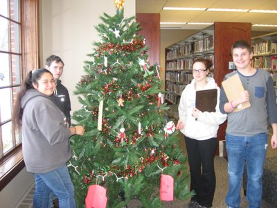 Decorate the Library Christmas Tree